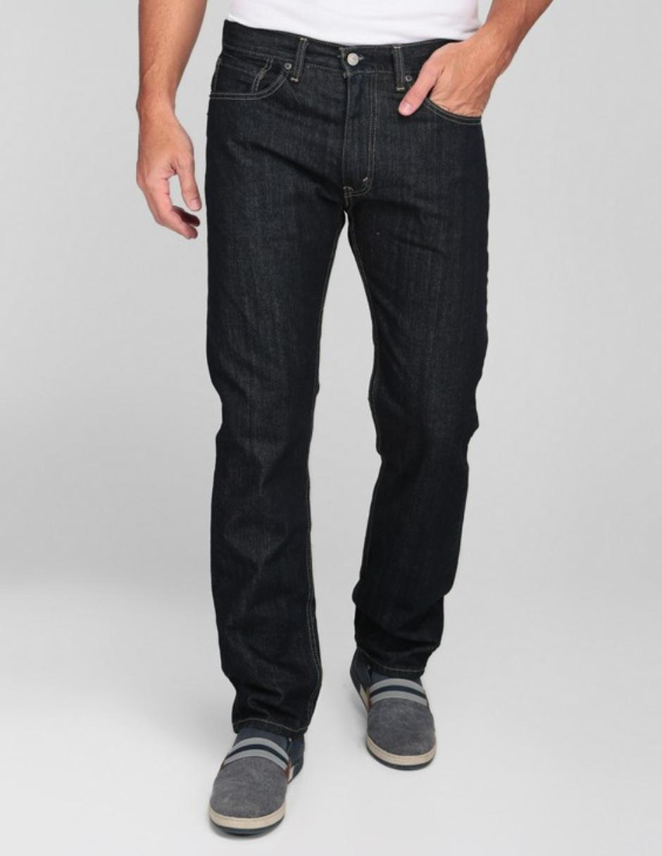 Jeans Levis De Caballero Corte Straight Cintura Media Lavado Stone Wash