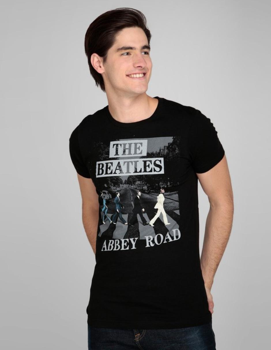 9d645b4d8 Playera The Beatles estampada cuello redondo manga corta