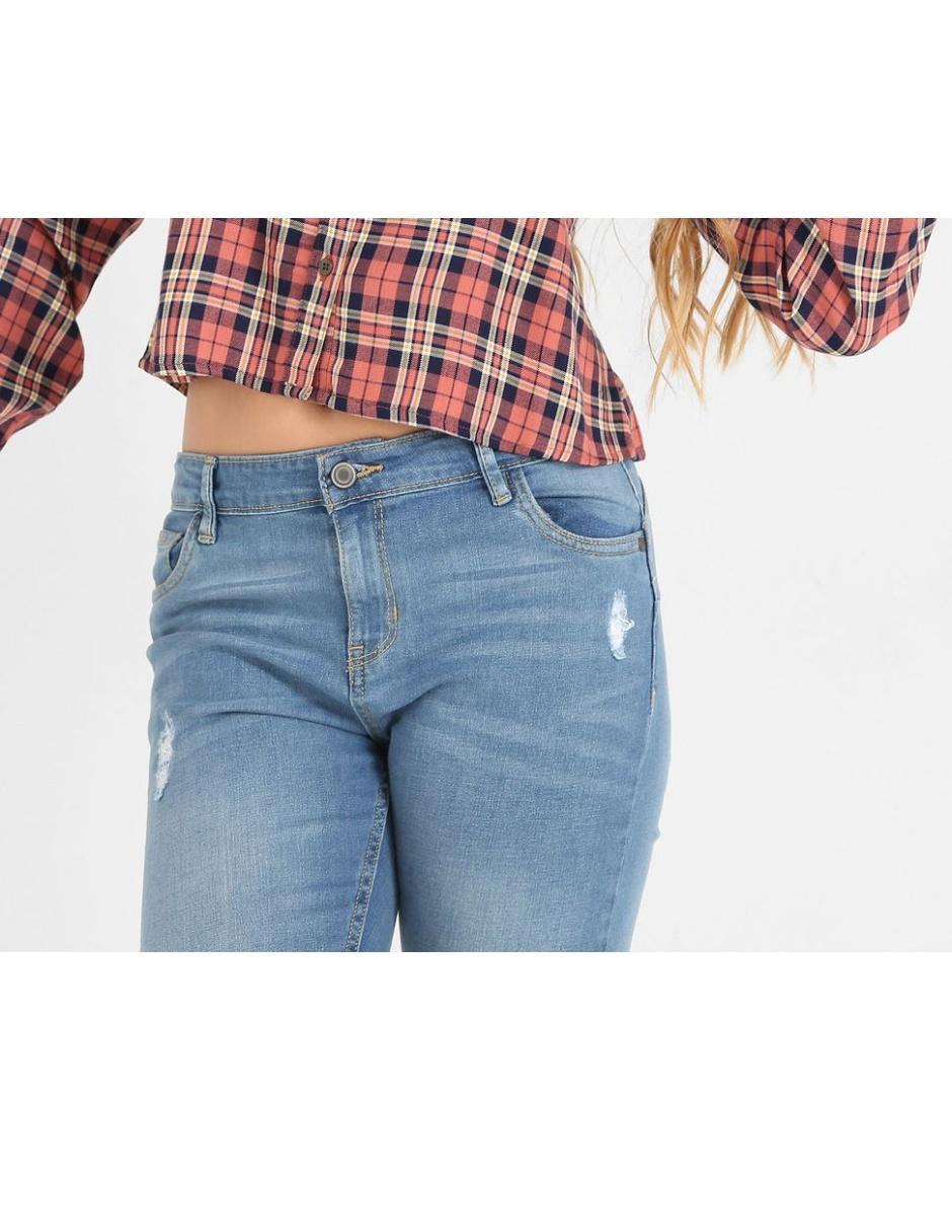 Jeans Mossimo De Skinny Cintura Media Con Destrucciones Exclusivo 50 Aniversario Para Mujer