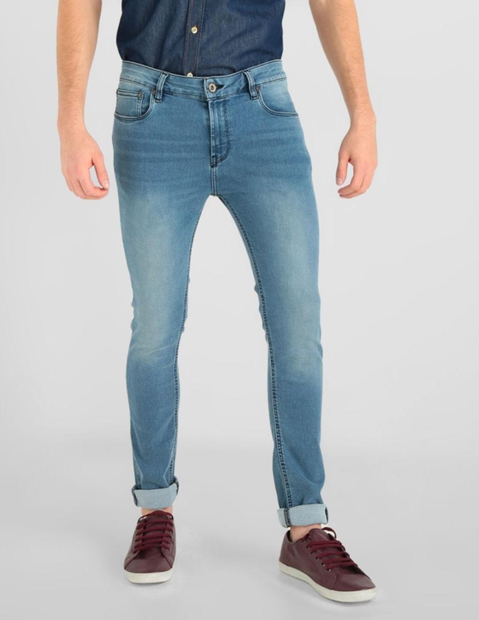 Jeans Furor De Caballero Corte Skinny Cintura Media